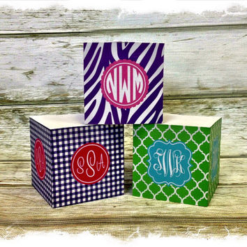 Personalized Sticky Note Cube by rrpage on Etsy