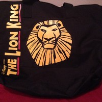 Disney's Lion King Black Zippered Tote Bag 19""