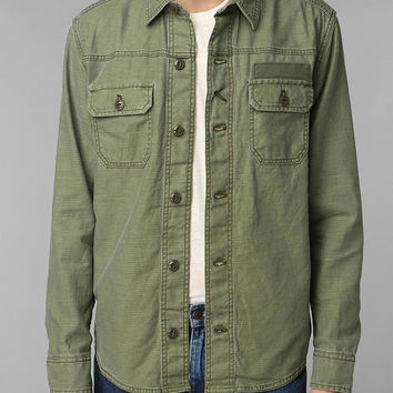 All Son Slub Military Reed Shirt - Urban Outfitters