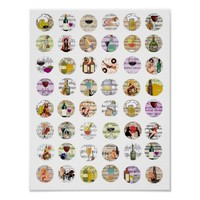 Women Wine And Song Collage Art Poster