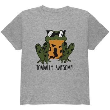 CREYCY8 Toad Totally Awesome Funny Pun Youth T Shirt