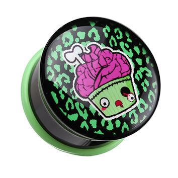Zombie Cupcake Single Flared Ear Gauge Plug