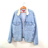 Banana Republic Denim Jacket Truckers Jacket Denim Coat Men's Jacket Jean Jacket Faded Denim Jacket Size XL