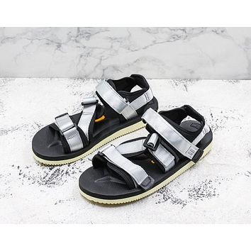 Suicoke Black White KISEE-V Vibram Sole Antibacterial Upper Slipper Slider Sandals