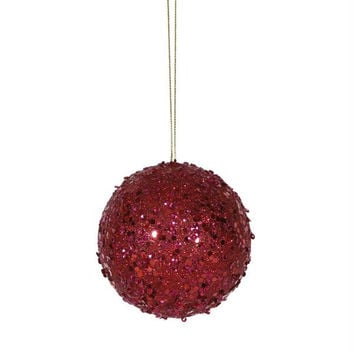 24 Christmas Ball Ornaments - Red