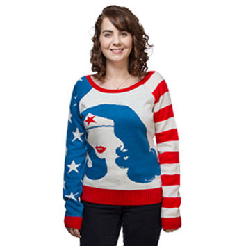 Wonder Woman Silhouette Sweater