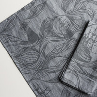 Organic Cotton Napkins (set of 2) Blue Ships