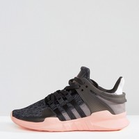 adidas Originals Black Equipment Support Sneakers at asos.com