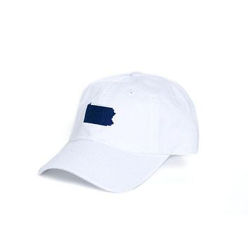 PA Happy Valley Gameday Hat in White by State Traditions
