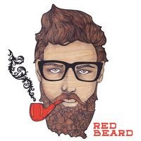 red beard Stretched Canvas by holli zollinger