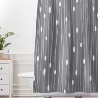 Heather Dutton Gray Entangled Shower Curtain And Mat