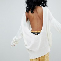 Rokoko Deep Scoop Back Sweater at asos.com
