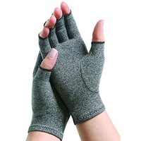 Arthritis Compression Gloves for Rheumatoid & Osteoarthritis -Sanbo Hand Gloves Provide Arthritic Joint Pain Symptom Relief - Men & Women - Fingerless (S)