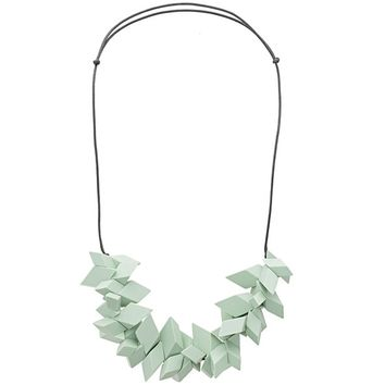 Sage Slanted Diamonds Collar Necklace | Oliver Bonas