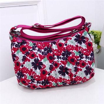 Women Casual Printing Nylon Dumlings Shoulder Bags Crossbody Bags