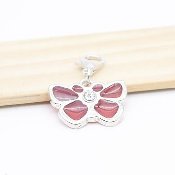 Pendant Charms Metal Red Butterfly Charms for Bracelet Bangle Necklace for Women Men Jewelry Accessory Fashion 2017