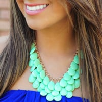 You'll Be Mine Necklace: Lime