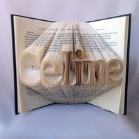 Customizable Name/Word Folded Book Art - Anniversary Gift - Book Sculpture - Wedding Gift - Unique Gift - Book Lovers
