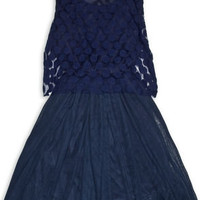 Costa Blanca What's Hot and What's Dot Navy Blue Dress