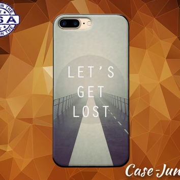 Let's Get Lost Quote Fog Bridge Tumblr Inspired New Case iPhone 5/5s 5c iPhone 6 and 6+ and iPhone 6s iPhone 6s Plus iPhone SE iPhone 7 +