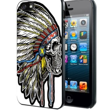 Skull Indian Chief2 Samsung Galaxy S3 S4 S5 S6 S6 Edge (Mini) Note 2 4 , LG G2 G3, HTC One X S M7 M8 M9 ,Sony Experia Z1 Z2 Case