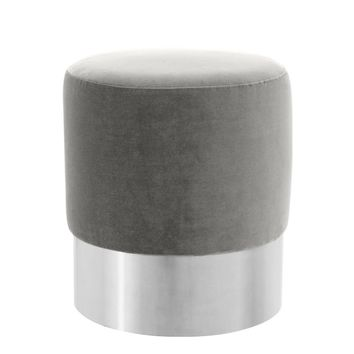 Grey Velvet Stool | Eichholtz Pall Mall