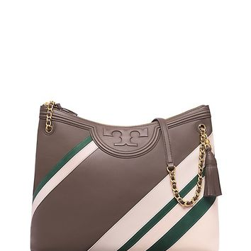 Tory Burch Fleming Stripe Tote
