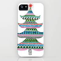 Christmas tree stripe iPhone & iPod Case by Janet Broxon