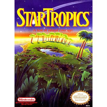 Retro Star Tropics Game Poster//NES Game Poster//Video Game Poster//Vintage Game Reprint