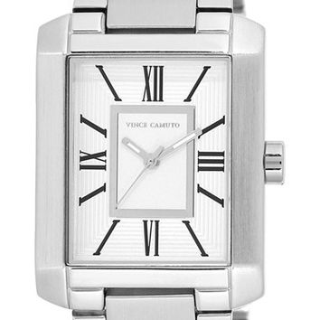Women's Vince Camuto Rectangle Bracelet Watch, 40mm - Silver/ White