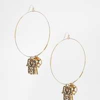 ASOS Mystic Hoop Charm Earrings