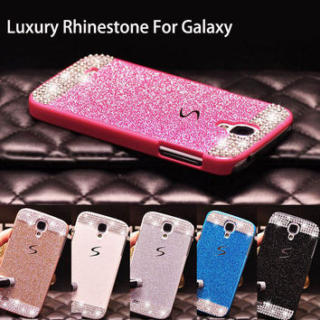 Luxury Bling Rhinestone Diamond PC Hard Back Case Cover For Samsung Galaxy A3 A5 A7 2016 S3 S4 S5 S6 Edge Plus S7 Edge J5 J7