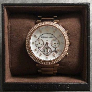 DCCKUG3 Ladies Michael Kors MK5491 Chronograph Rose Gold Bracelet Women's Watch RRP ¡ê229