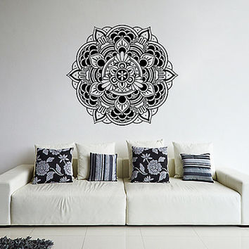 kik366 Wall Decal Sticker Room Decor Wall Art Mural mandala Buddhist meditation Hindu Hinduism India Ornament living room