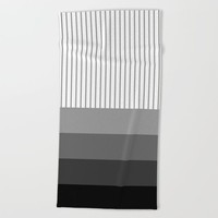 prugastim (black) Beach Towel by Trebam