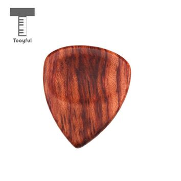 Tooyful Wooden Guitar Pick Handmade Acoustic Guitar Picks Plectrum for Guitar Lovers
