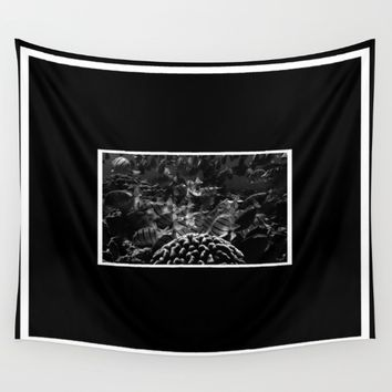 Tropical Fishes Wall Tapestry by Derek Delacroix