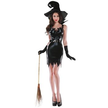 Sexy Adult Halloween Witch Costume
