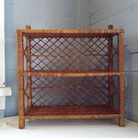 Vintage, Boho, Wicker, Shelves, Shelf Unit, Two Tier, Display Shelves, Table Top, Standing, Hanging, Home Decor, RhymeswithDaughter