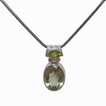 Sterling Silver Gemstone Necklace