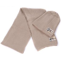 Burberry autumn and winter models men and women wool hat scarf two-piece F-AJIN-BCYJSH khaki