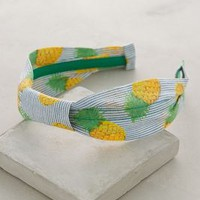 Striped Pineapple Headband by Anthropologie in Yellow Size: All Hair