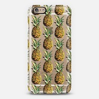 Tropical Pineapple Pattern Transparent iPhone 6 case by Organic Saturation | Casetify