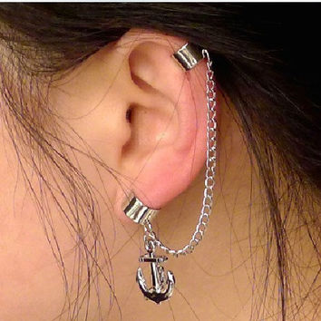 Cute Anchor Ear Cuff by sanny1983 on Etsy