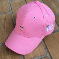 New Embroidery Pink Baseball Cap Low Profile Curved Bill Gift