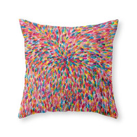 Society6 Colorful Throw Pillow
