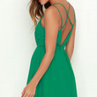 Crisscross Country Green Dress