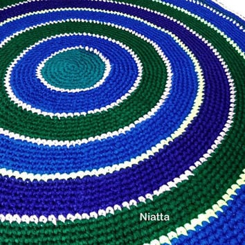 crochet round rugs handmade rug woven pet bed carpet mat floor mat woven rug woven carpet egst Niatta