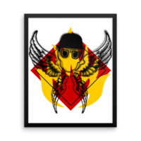 Fire Fly Man by Dwiner. Unique and colourful office art