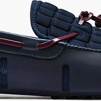 SWIMS - Tassel Loafer Alligator Navy/Port